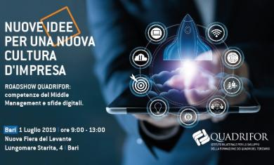ROADSHOW DI QUADRIFOR: Competenze del Middle Management e sfide digitali